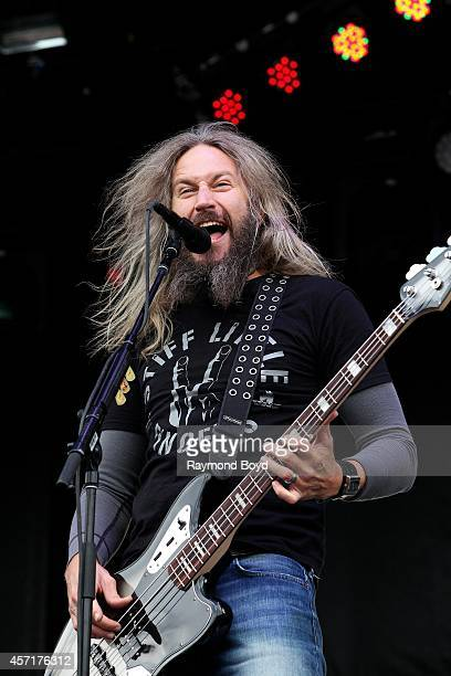 Troy Sanders from Mastodon performs during the 'Louder Than Life' Music Festival in Champions Park on October 04 2014 in Louisville Kentucky