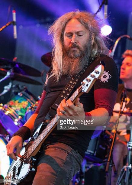 Troy Sanders of Mastadon performs at Michigan Lottery Amphitheatre at Freedom Hill on June 9 2018 in Sterling Heights Michigan