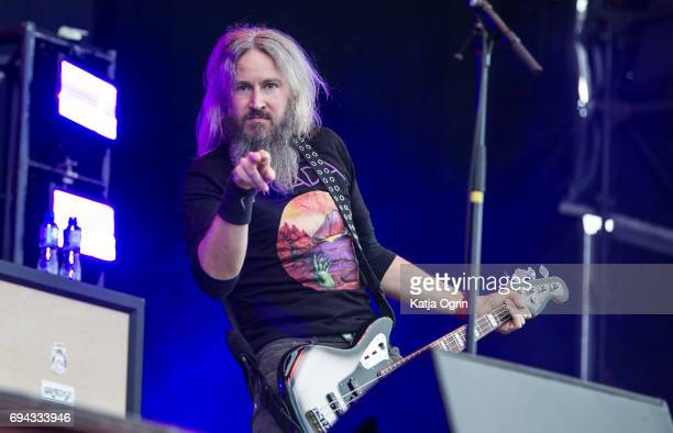Troy Sanders of Mastodon performing live on Day 1 of Download Festival at Donington Park on June 9 2017 in Castle Donington UK