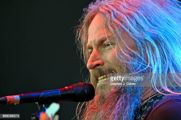 Troy Sanders of Mastodon performs at Champions Park on September 30 2017 in Louisville Kentucky