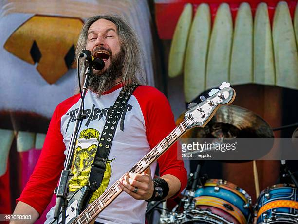 Troy Sanders of Mastodon performs during 2014 Rock On The Range at Columbus Crew Stadium on May 18 2014 in Columbus Ohio