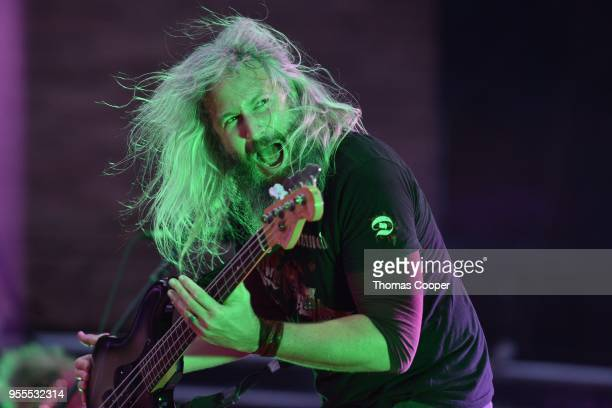 Troy Sanders of Mastodon performs for a sold out show at Red Rocks Amphitheatre on May 6 2018 in Morrison Colorado