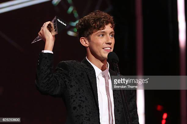 Troy Sivane accepts an ARIA for Apple Music Song of the Year during the 30th Annual ARIA Awards 2016 at The Star on November 23 2016 in Sydney...
