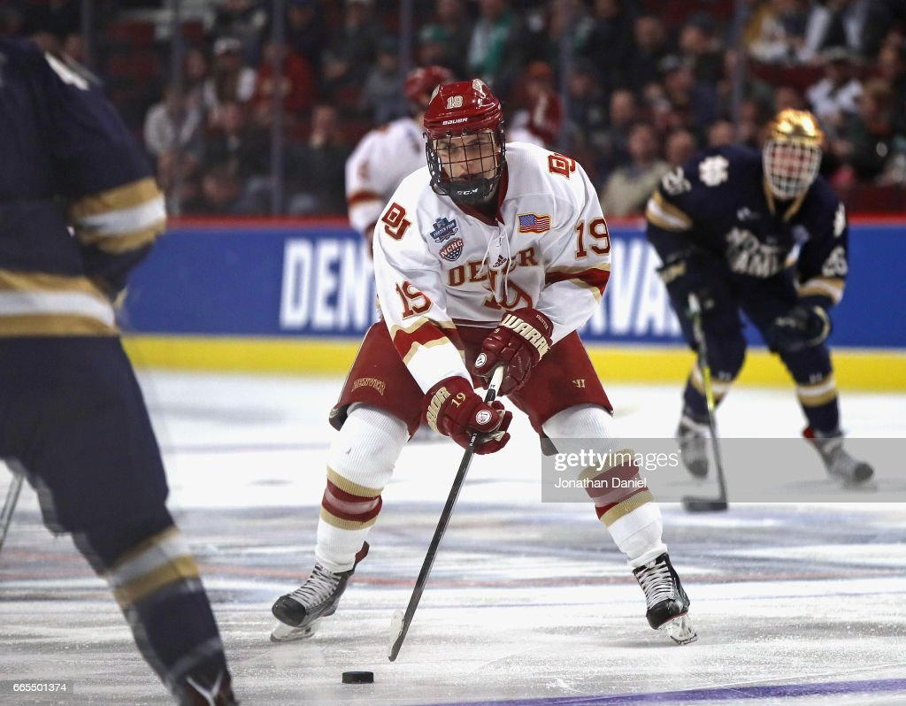 2017 NCAA Division I Men's Hockey Championships - Semifinals : News Photo