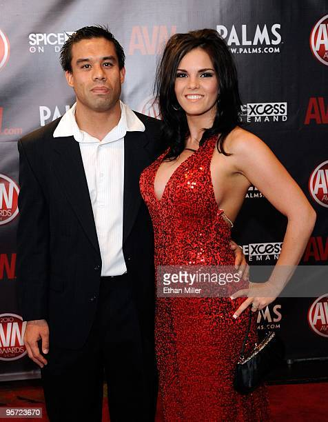 Troy Thicke And Adult Film Actress Mackenzee Pierce Arrive At The 27th Annual Adult Video News
