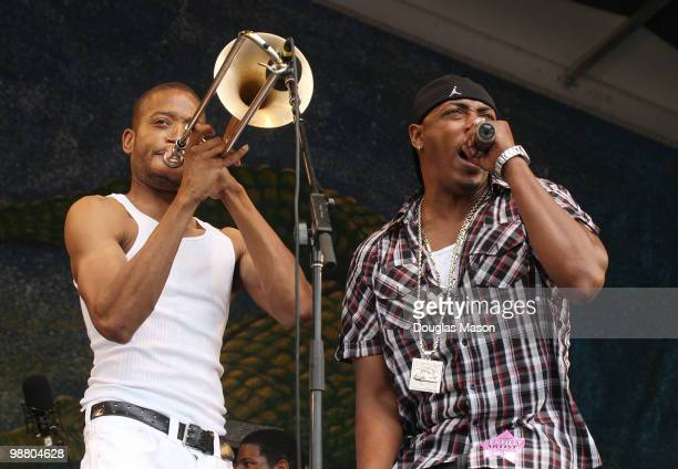 Troy Trombone Shorty Andrews and Mystikal perform at the 2010 New Orleans Jazz Heritage Festival Presented By Shell at the Fair Grounds Race Course...