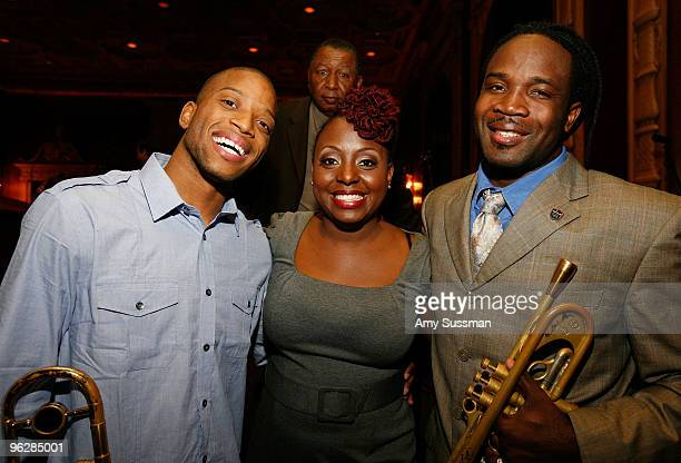 Troy Trumbone Shorty Andrews Ledisi and Shamarr Allen attend Only in Louisiana brunch celebration of music culture and business at Millennium...