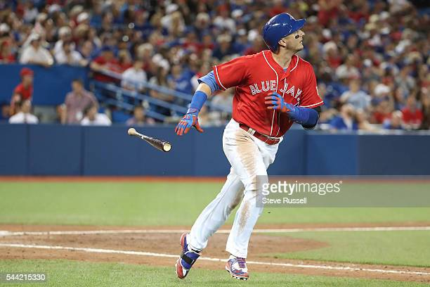 TORONTO ON JULY 1 Troy Tulowitzki pops out as the Toronto Blue Jays lose the Cleveland Indians 21 in 19 innings on Canada Day at the Rogers Centre in...