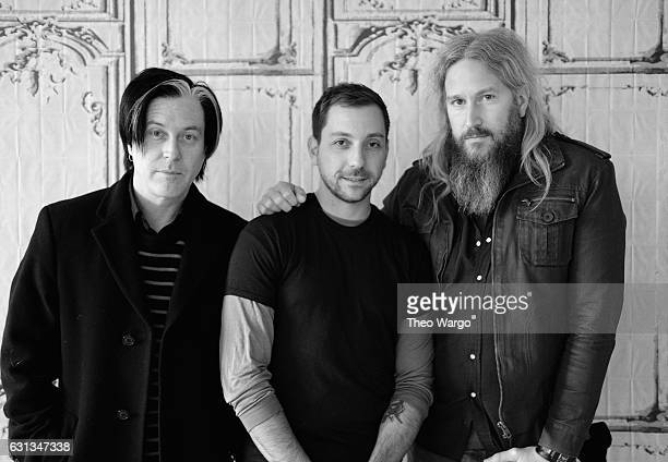 Troy Van Leeuwen Mike Zarin and Troy Sanders attend Build Presents The Band Gone is Gone Discussing Their New Album Echolocation at AOL HQ on January...