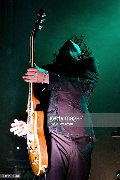 Troy Van Leeuwen of Queens of the Stone Age performs at the Riviera Theatre on April 1, 2011 in Chicago, Illinois.