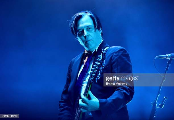 Troy Van Leeuwen of Queens of the Stone Age performs onstage during KROQ Almost Acoustic Christmas 2017 at The Forum on December 9 2017 in Inglewood...