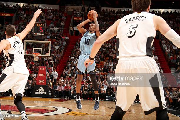 Troy Williams of the Memphis Grizzlies shoots the ball against the Miami Heat on November 26 2016 at American Airlines Arena in Miami Florida NOTE TO...