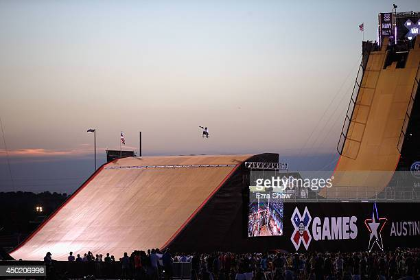 Troy Wood warms up for the Skateboard Big Air Finals during the X Games Austin at Circuit of The Americas on June 6 2014 in Austin Texas