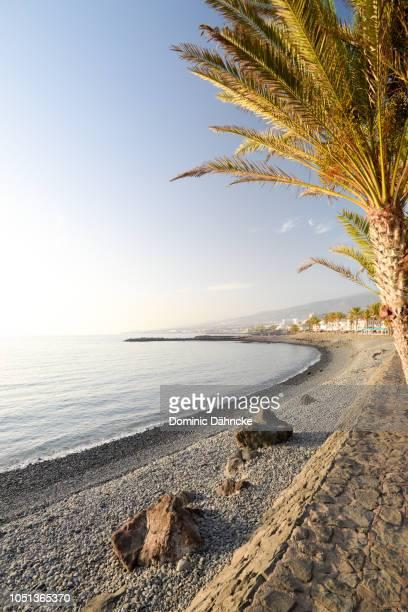 Troya beach, in Costa Adeje town, south of Tenerife island (Canary Islands)