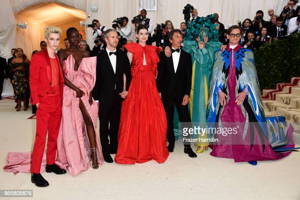 Troye Sivan Adut Akech Adam Shulman Anne Hathaway Pierpaolo Piccioli Frances McDormand and Hamish Bowles attend the Heavenly Bodies Fashion The...