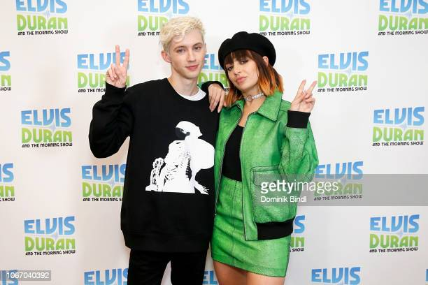 Troye Sivan and Charli XCX visit Z100 Studio on November 13 2018 in New York City