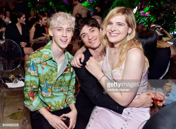 Troye Sivan and Hari Nef attend The Daily Front Row's 4th Annual Fashion Los Angeles Awards at Beverly Hills Hotel on April 8 2018 in Beverly Hills...