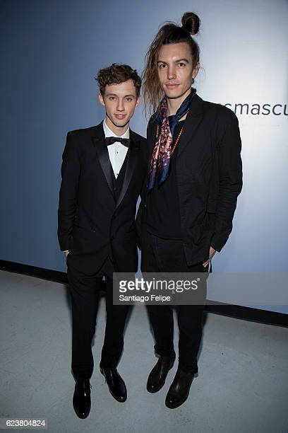 Troye Sivan and Ian Mellencamp attend Tinder x GLAAD Celebrate Inclusion Acceptance Equality at Skylight Clarkson Sq on November 16 2016 in New York...
