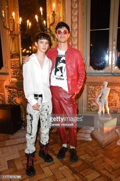 Troye Sivan and Jacob Bixenman attend the 'Giambattista Valli Loves HM' Show on October 24 2019 in Rome Italy