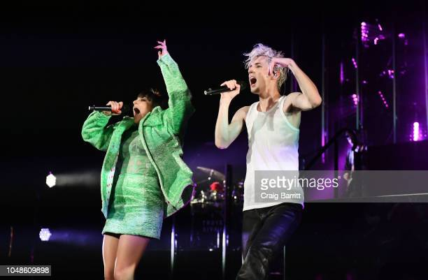Troye Sivan and special guest Charli XCX in concert at Radio City Music Hall on October 9, 2018 in New York City.