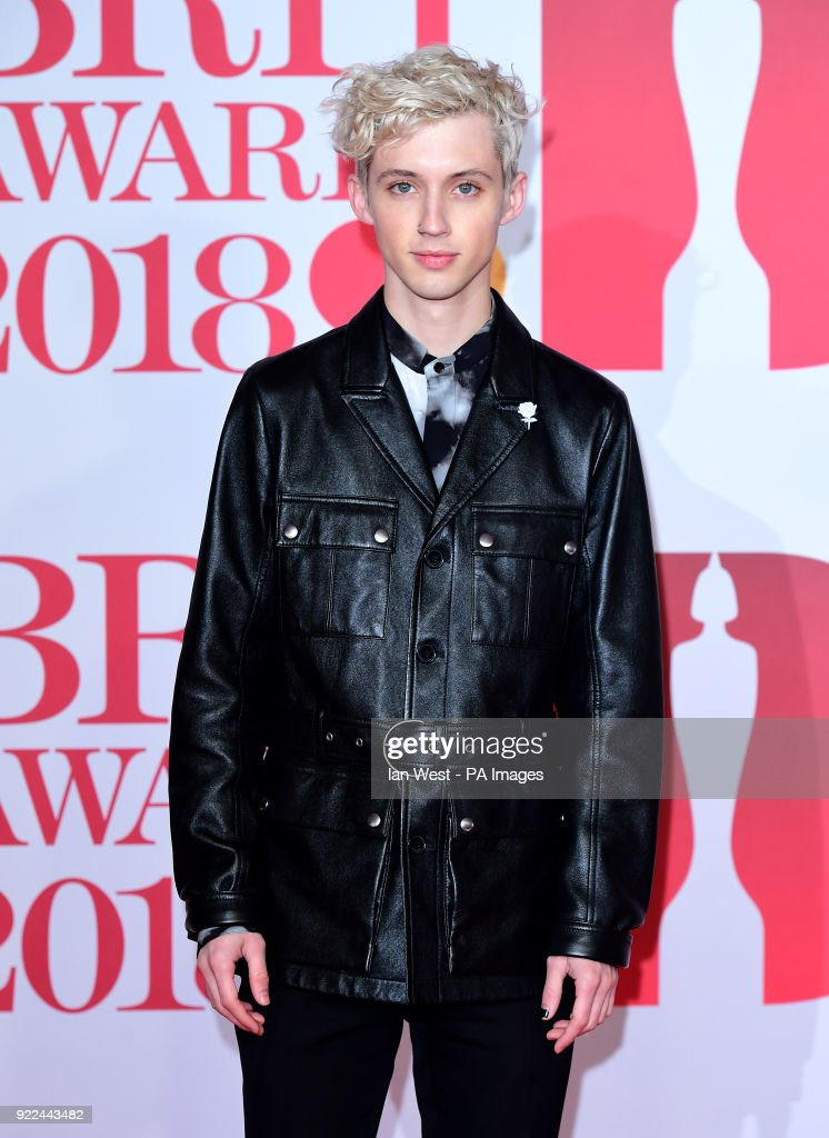 Troye Sivan attending the Brit Awards at the O2 Arena, London