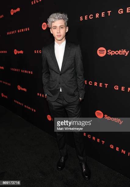 Troye Sivan attends Spotify's Inaugural Secret Genius Awards hosted by Lizzo at Vibiana on November 1 2017 in Los Angeles California