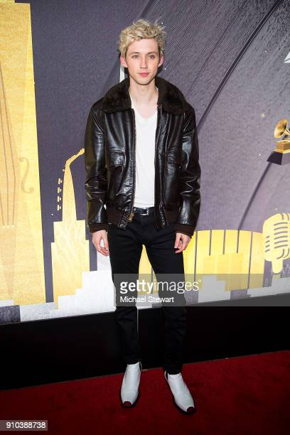 Troye Sivan attends the 2018 Delta Air Lines Grammy weekend celebration at The Bowery Hotel on January 25 2018 in New York City