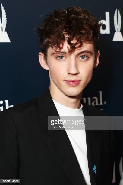Troye Sivan attends the 28th Annual GLAAD Media Awards in LA at The Beverly Hilton Hotel on April 1 2017 in Beverly Hills California