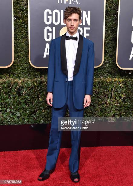 Troye Sivan attends the 76th Annual Golden Globe Awards at The Beverly Hilton Hotel on January 6 2019 in Beverly Hills California