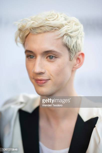 Troye Sivan attends the NGV Gala 2018 at National Gallery of Victoria on December 1 2018 in Melbourne Australia