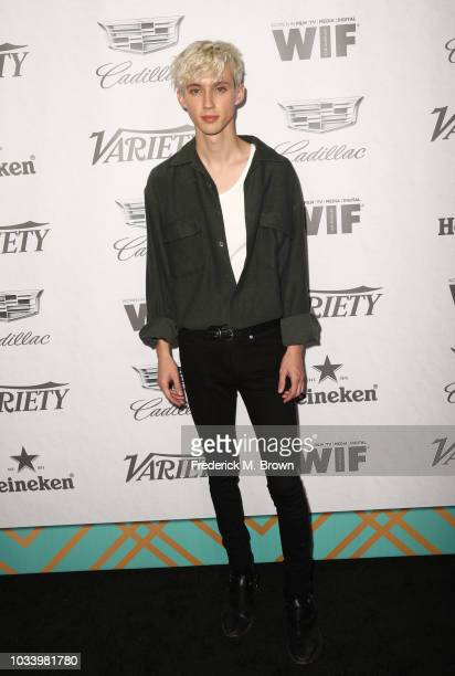 Troye Sivan attends Variety and Women in Film's 2018 PreEmmy Celebration at Cecconi's on September 15 2018 in West Hollywood California