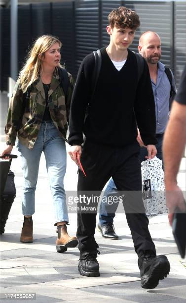 Troye Sivan is seen arriving at Perth Airport on September 14 2019 in Perth Australia