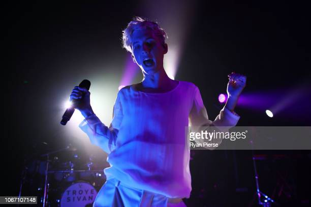Troye Sivan performs during the NGV Gala 2018 at National Gallery of Victoria on December 1, 2018 in Melbourne, Australia.