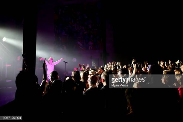 Troye Sivan performs during the NGV Gala 2018 at National Gallery of Victoria on December 1 2018 in Melbourne Australia