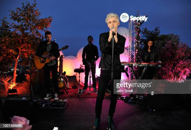 Troye Sivan performs for his biggest fans from Spotify at a special event at Baldwin Hills Scenic Overview to celebrate his forthcoming album 'Bloom'...
