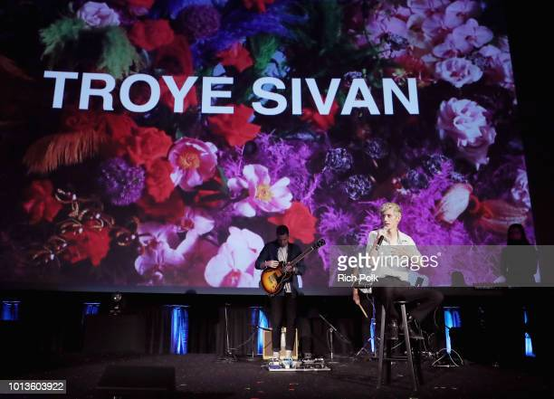 Troye Sivan performs onstage during Capitol Music Group's 5th annual Capitol Congress Premieres new music and projects for industry and media at...