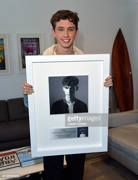 Troye Sivan pictured here was in Los Angeles this week playing two soldout shows at the Hollywood Palladium While in town Capitol Music Group...