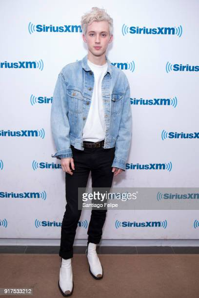 Troye Sivan visits SiriusXM Studios on February 12 2018 in New York City