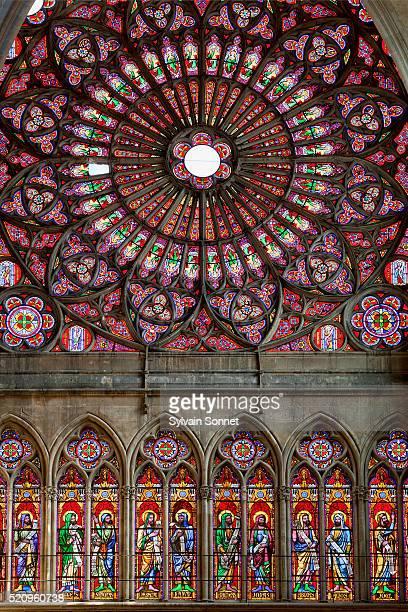 troyes, saint-pierre-et-saint-paul cathedral - troyes champagne ardenne photos et images de collection