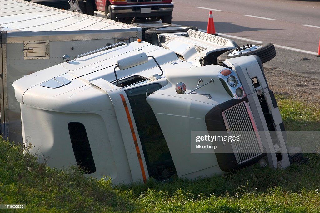 Truck Accident Crash : Stock Photo