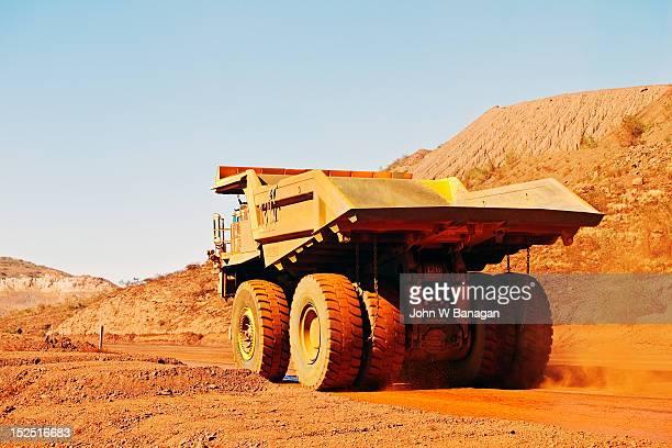 Truck at an iron ore mine, Western Australia