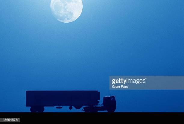 Truck at night.