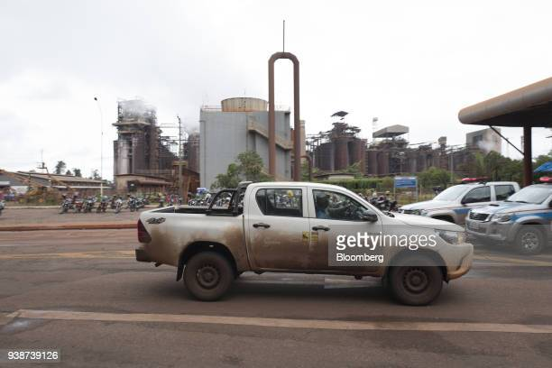 A truck displaying the Norsk Hydro ASA logo enters the company's alumina refinery in Barcarena Para state Brazil on Wednesday Feb 28 2018 A Brazilian...
