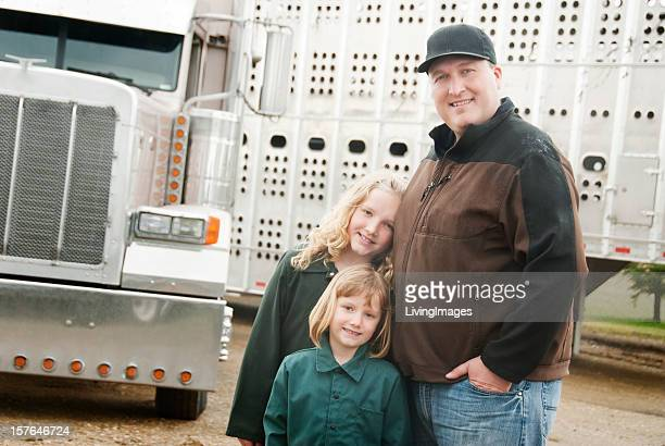 Truck Driver and his Daughters