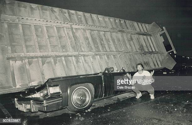 A truck driver escaped with neck and back injuries when his tractortrailer crashed through the guardrail on the eastbound Gardiner Expressway and...
