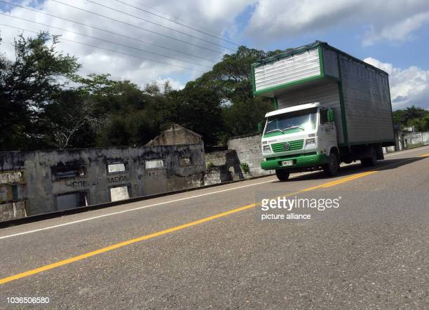 Truck drives along a highway past the ruins of Armero, Columbia, 29 November 2015. Armero was destroyed by a massive landslide in 1985. The landslide...