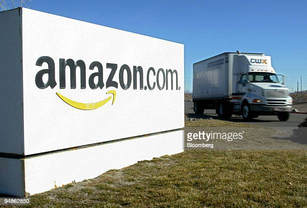 A truck drives by Amazoncom's fulfillment center in Fernley Nevada on December 15 2004
