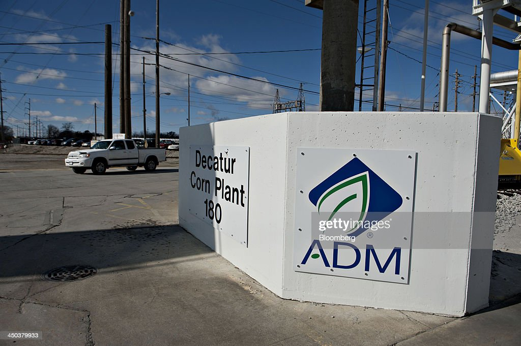 A truck drives on the campus of the Archer-Daniels-Midland Co. (ADM) Decatur Corn Plant in Decatur, Illinois, U.S., on Tuesday, Nov. 12, 2013. Archer-Daniels-Midland Co. procures, transports, stores, processes, and merchandises agricultural commodities and products as well as processes oilseeds, corn, milo, oats, barley, peanuts, and wheat. Photographer: Daniel Acker/Bloomberg via Getty Images