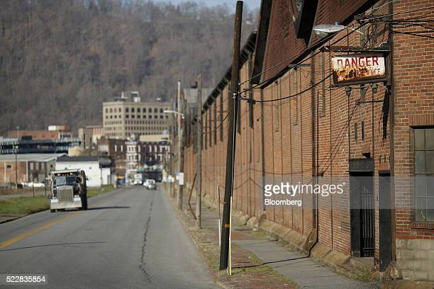 A truck drives past part of the former Bethlehem Steel Corp plant now occupied by Gautier Steel Ltd in downtown Johnstown Pennsylvania US on Friday...