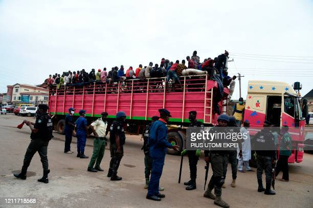 Truck full of herdsmen was stopped before arriving in Lagos at the Ojodu-Berger in Lagos, on May 4 from Zamfara and Kano State, the epicentre of...